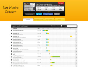 speed test for web designers home page