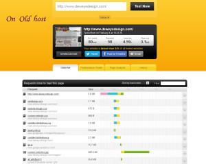 webdesigner speed test on old webhost